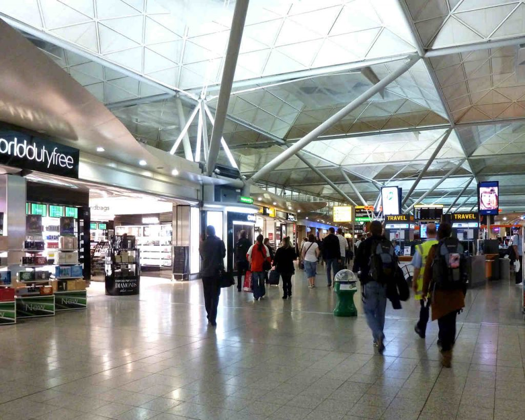 inside london stansted airport