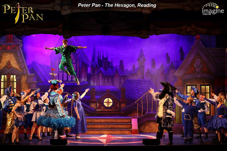 peter pan play at the hexagon Reading